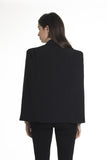 .04 HIGH SHOULDER CRÊPE CAPE BLAZER