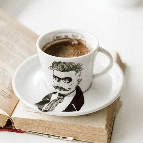 IVAN, the original hipster,  19cl cup with saucer - polonapolona