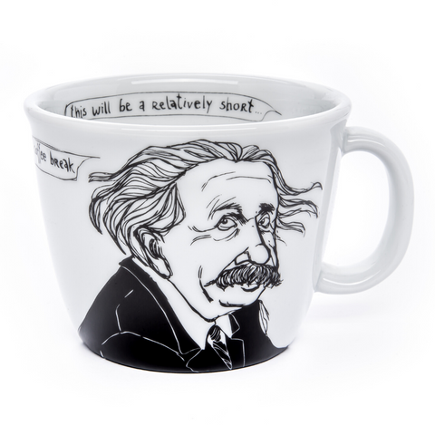 ALBERT, the mathematician, 35cl mug - polonapolona