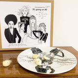 "LP  ""70's going on 80's"",    ∅ 31cm serving plate - polonapolona"