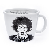 JIMI, the guitar hero,    35cl mug - polonapolona