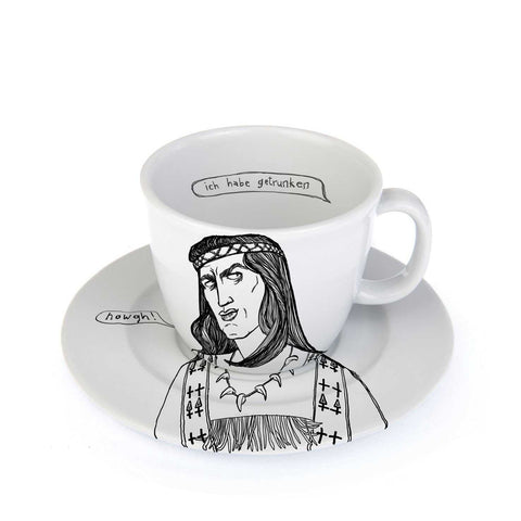 STURDY OAK - the bravest of indian chiefs - 25cl cup with saucer