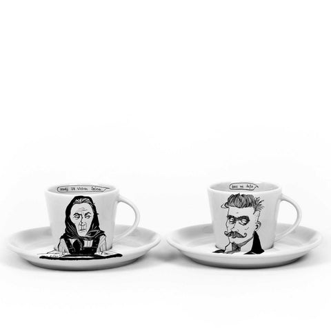 IVAN & MAMA, SET 2 x 9cl cups with saucers - polonapolona