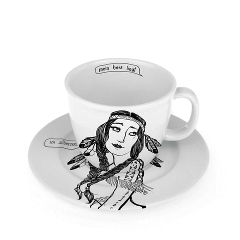 THE MAIDEN, 25cl cup with saucer - polonapolona