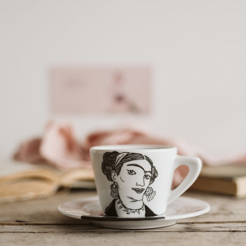 FRIDA, daughter of the revolution, 18cl cappuccino cup/saucer - polonapolona