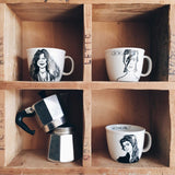 "ROCK'N'ROLL ""SIX PACK"" - Set of 6 x 35cl mugs - polonapolona"