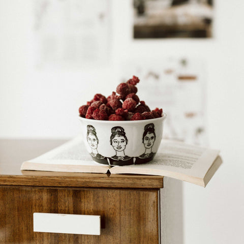 AUDREY, the fair one, 37cl bowl - polonapolona