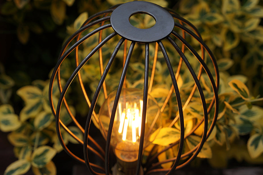 Bright Goods LED Filament Joseph GLS Bulb in Wire Iron Cage
