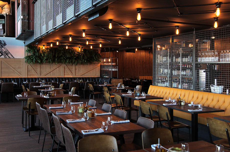 Cargo Restaurant and Bar LED filament light bulbs Bright Goods