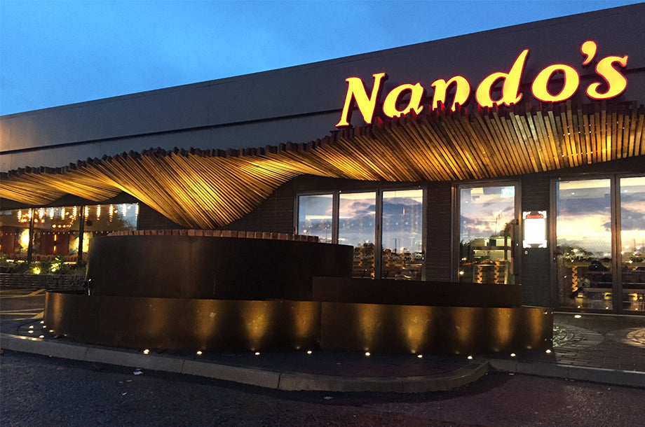 Nando's Hove switches to Bright Goods LED filament lights