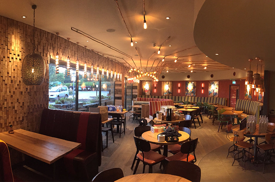 Nando's Hove switches to Bright Goods LED filament lights 2