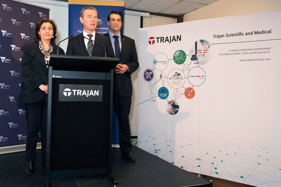 Federal and Victorian Industry Ministers announce Trajan as manufacturing grant recipient