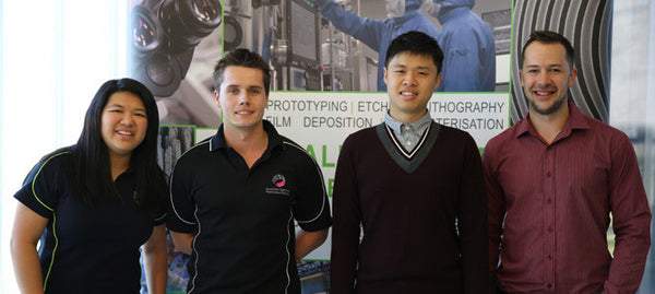 MCN Interns at Trajan with Research Scientist Dr Jason Hon and General Manager Chemistry Platforms Dr Rick Barber