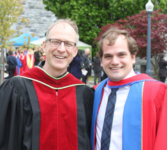 Prof Richard Oleschuk and Dr Kyle Bachus, June 2017.