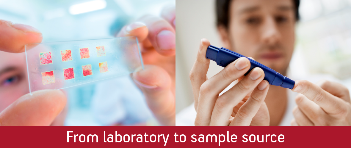 From laboratory to sample source