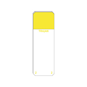 Trajan Scientific and Medical, Series 2 Adhesive Microscope Slides, Yellow, Frost 20 mm, 75 mm x 25 mm