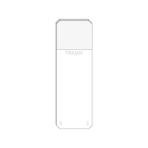 Trajan Scientific and Medical, Series 3 Adhesive Microscope Slides, White, Frost 20 mm, 75 mm x 25 mm