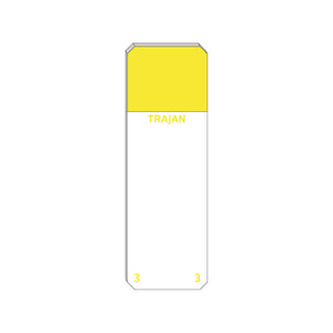 Trajan Scientific and Medical, Series 3 Adhesive Microscope Slides, Yellow, Frost 20 mm, 75 mm x 25 mm
