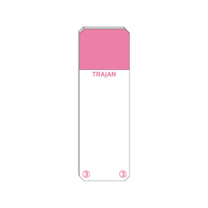 Trajan Scientific and Medical, Series 3 Adhesive Microscope Slides, Pink, Frost 20 mm, 76 mm x 26 mm