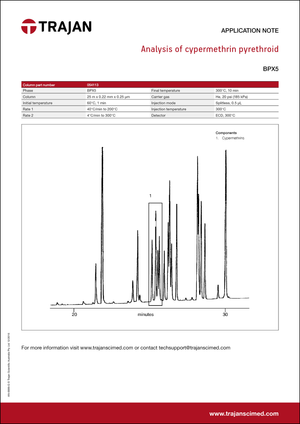 Application Note - Analysis of cypermethrin pyrethroid cover