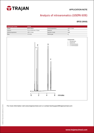 Application Note - Analysis of nitroaromatics (USEPA 609) cover