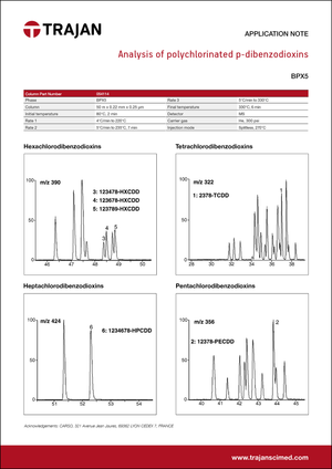 Application Note - Analysis of polychlorinated p-dibenzodioxins cover