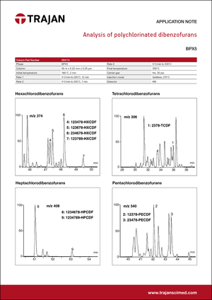 Application Note - Analysis of polychlorinated dibenzofurans cover