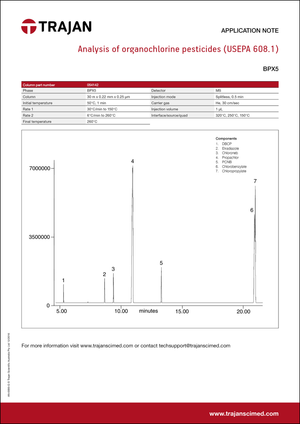 Application Note - Analysis of organochlorine pesticides (USEPA 608.1) cover