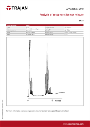 Application Note - Analysis of tocopherol isomer mixture cover