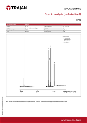Application Note - Steroid analysis (underivatized) cover