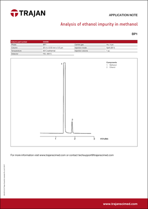 Application Note - Analysis of ethanol impurity in methanol cover
