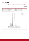 Application Note - Analysis of solvent impurities in dioxane (10 ppm) cover