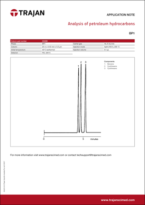 Application Note - Analysis of petroleum hydrocarbons cover