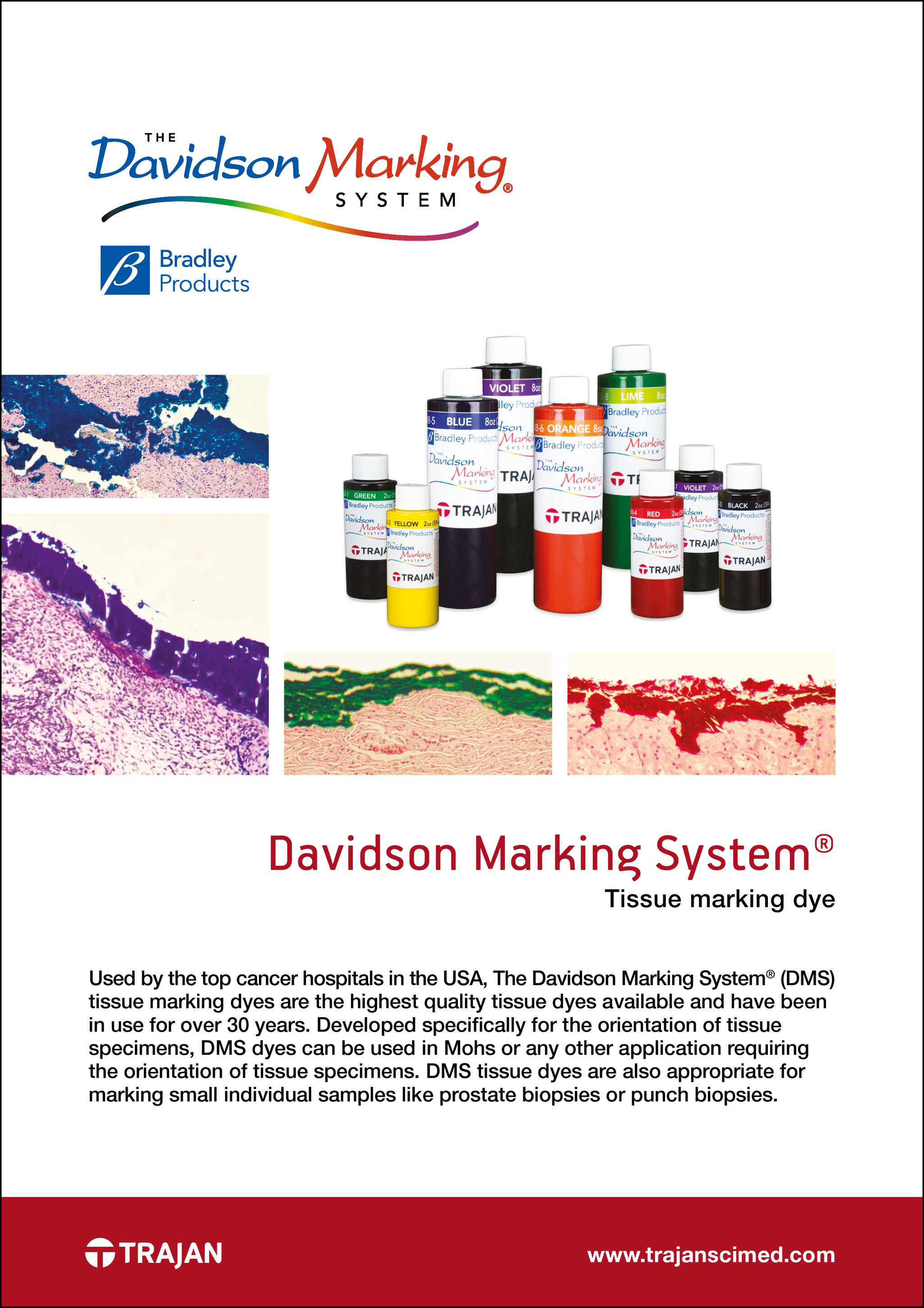 all tagged tissue marking dye trajan scientific and medical