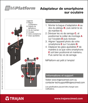 Manual - MiPlatform smartphone adapter for microscopes (French)