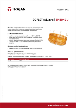 Product Data Sheet - BP BOND U GC PLOT columns