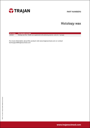 Part Number List - Histology wax