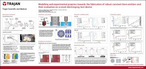 Technical Poster - Modelling and experimental progress towards the fabrication of robust constant-bore emitters and their evaluation on a novel electrospray test device
