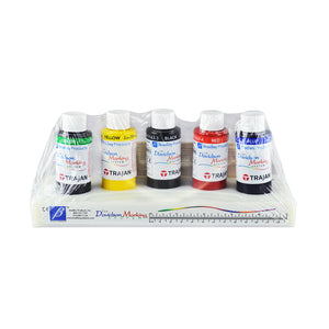 Davidson Marking System, Tissue Marking Dye 5-Color Set of 2 oz bottles with plastic tray (green, yellow, black, red, blue)