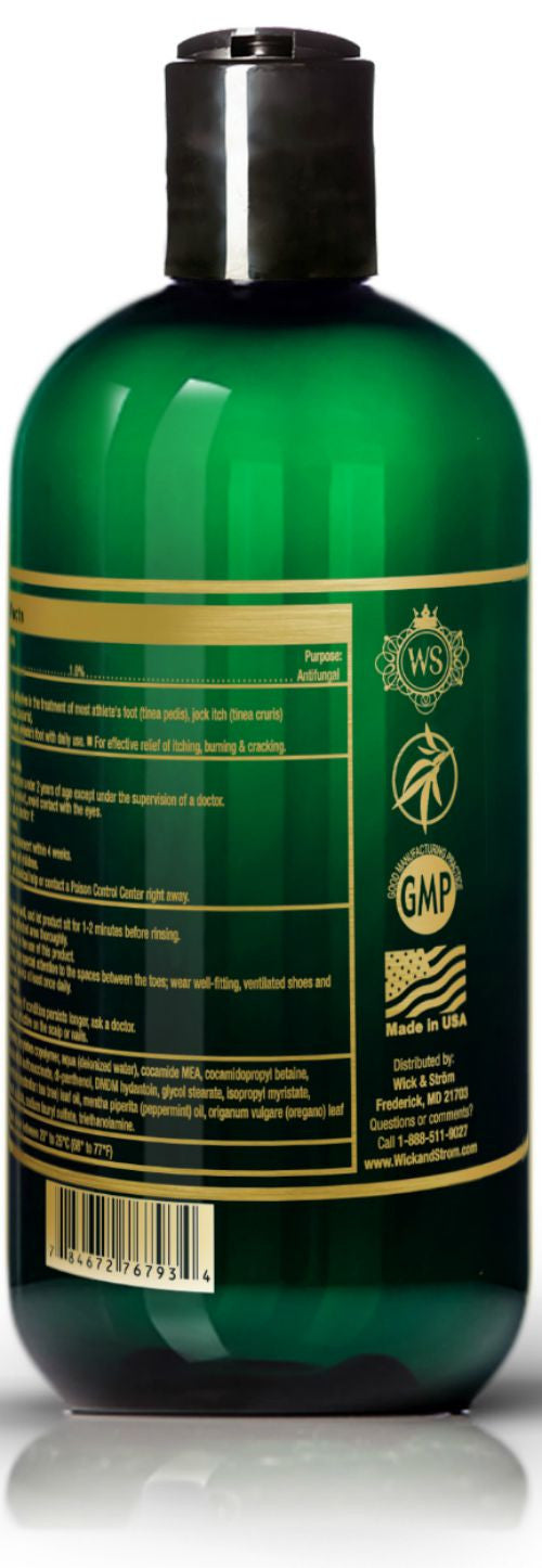 Antifungal Soap with Tea Tree Oil & Tolnaftate an Active Ingredient Proven Clinically Effective in Athletes Foot, Jock Itch & Ringworm Treatment