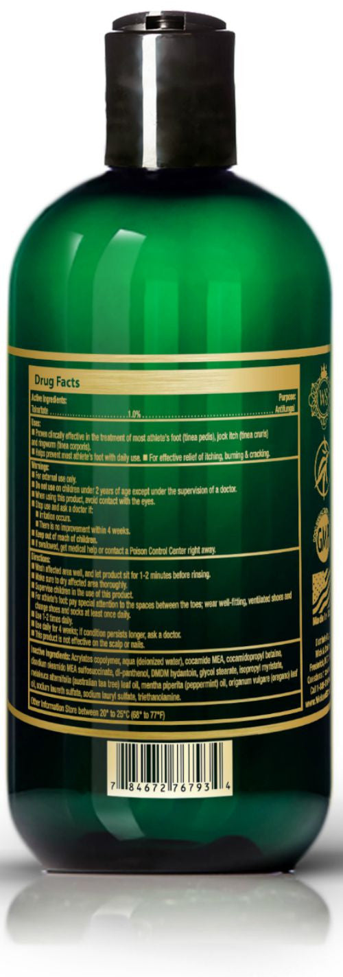 Antifungal Soap with Tea Tree Oil & Tolnaftate an Active Ingredient Proven Clinically Effective in Athletes Foot, Jock Itch & Ringworm Treatment by Wick & Ström