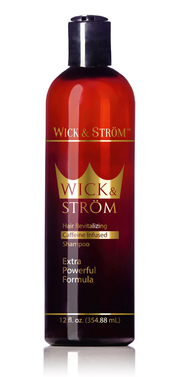 Premium Anti Hair Loss Shampoo - Wick & Ström - (Caffeine, Biotin, Saw Palmetto, Aloe Leaf, Keto.+) Formulated to Stimulate Hair Growth for Men & Women /12oz NO Minoxidil