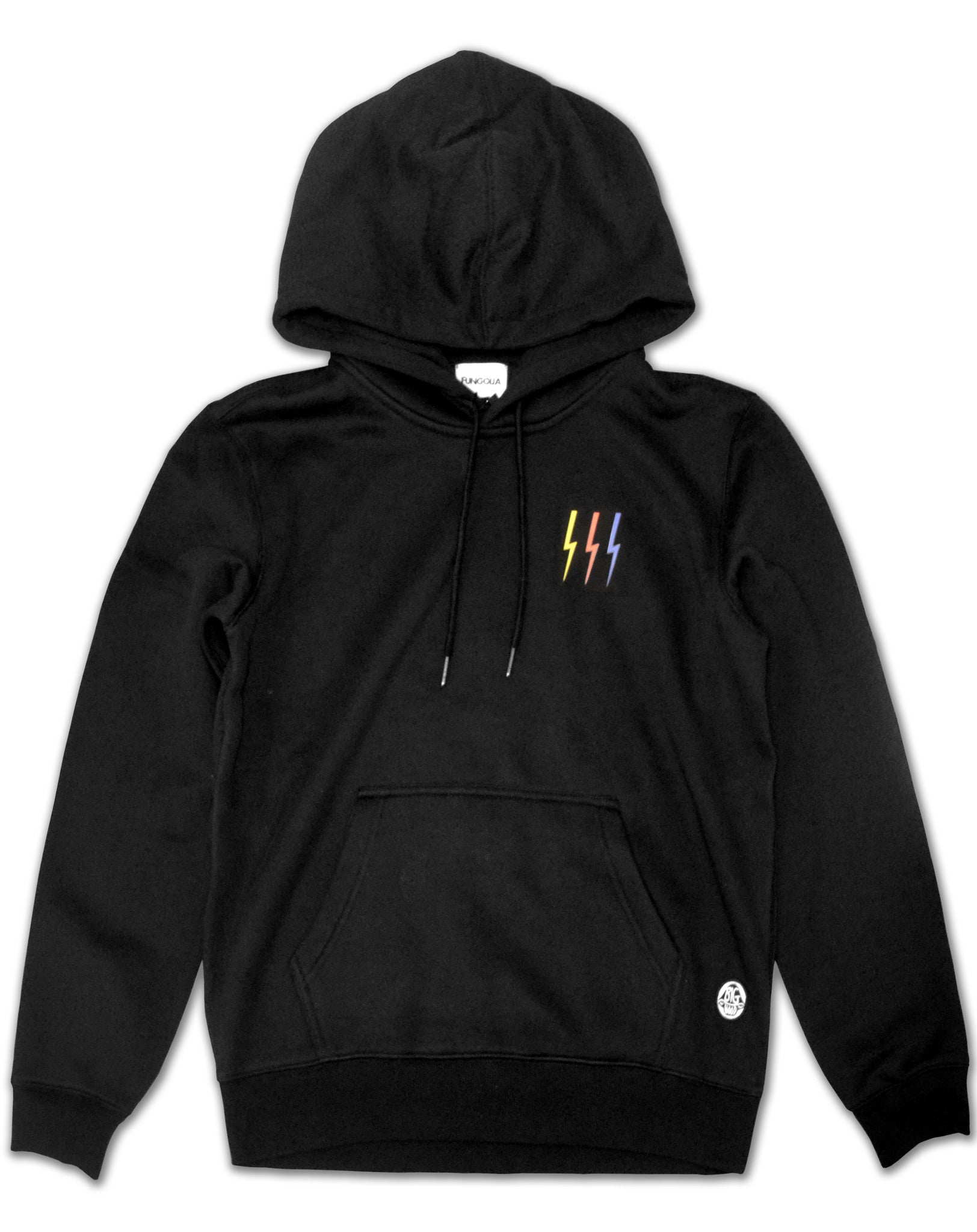 Fungolia fleece Hoodie - Thunderbolt (Black)