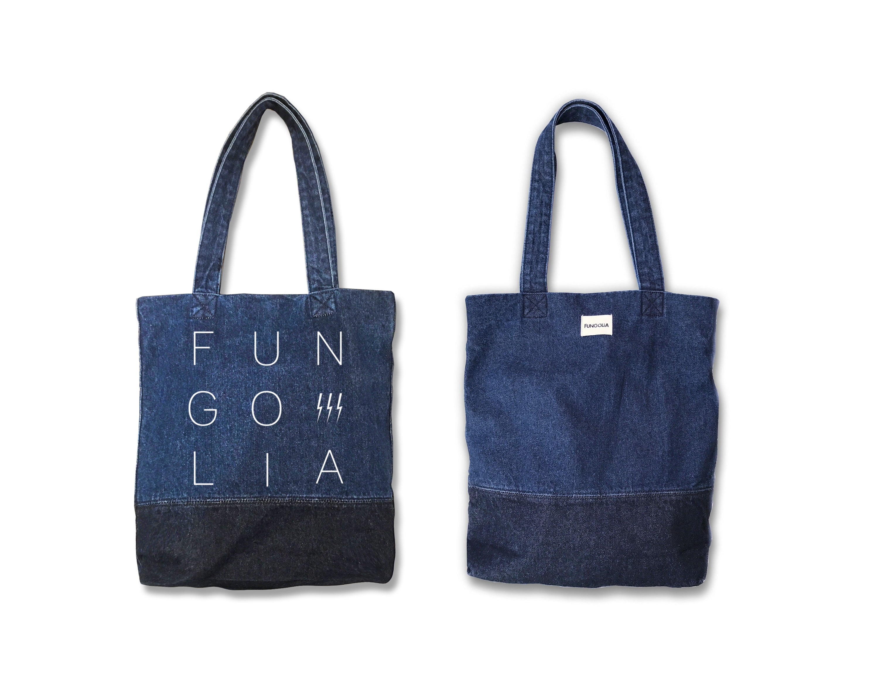 new york get online official images Fungolia Denim tote bag - FUN-GO-LIA Special Edition