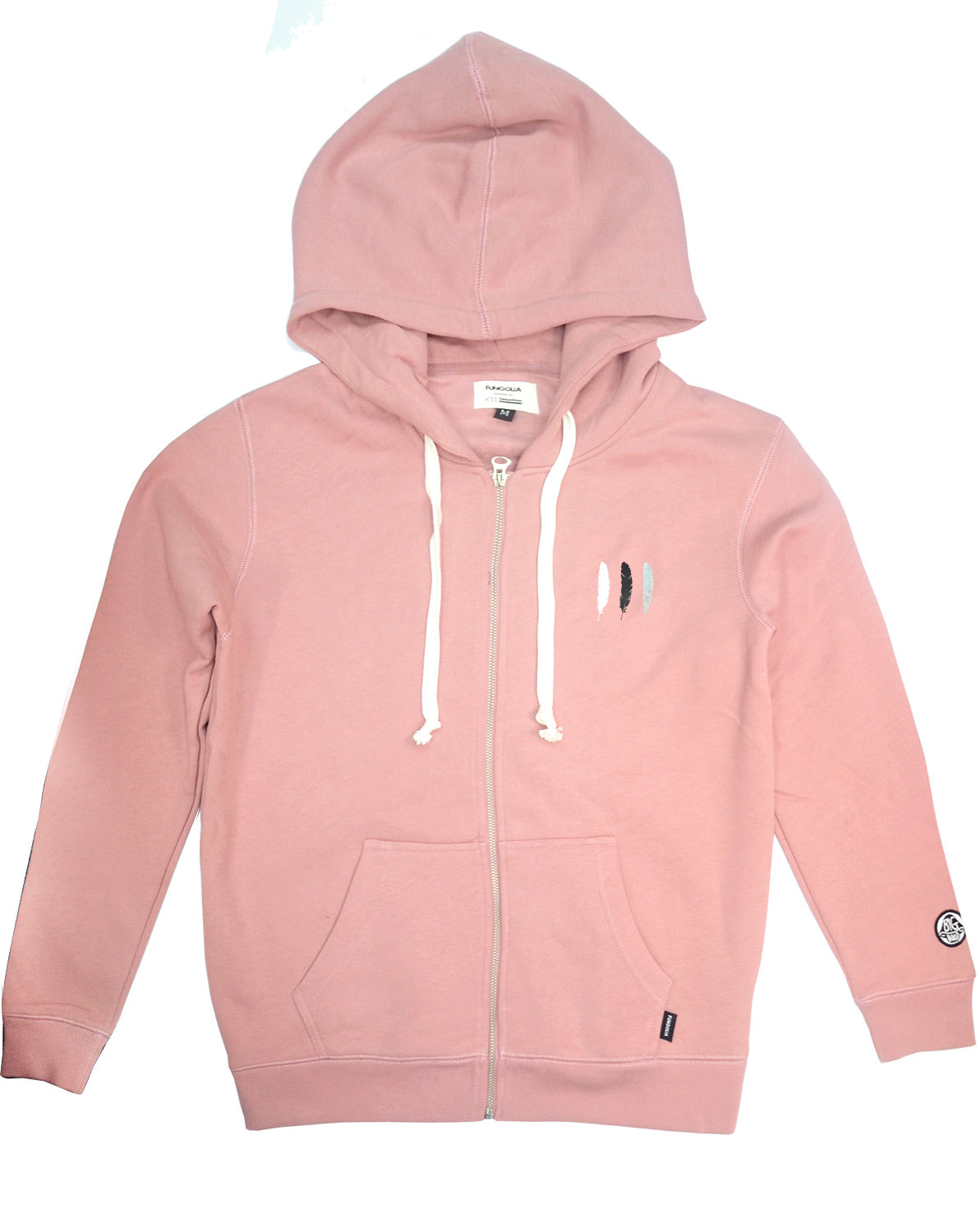 good out x cheap for discount shoes for cheap Fungolia Big Hood Fleece Zip Hoodie - WBF feathers (Dusty Pink)