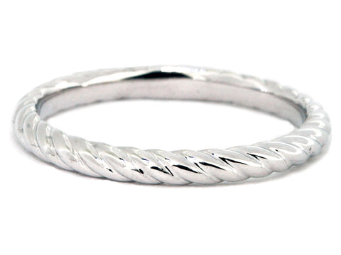Rope-style Wedding Band 14kt