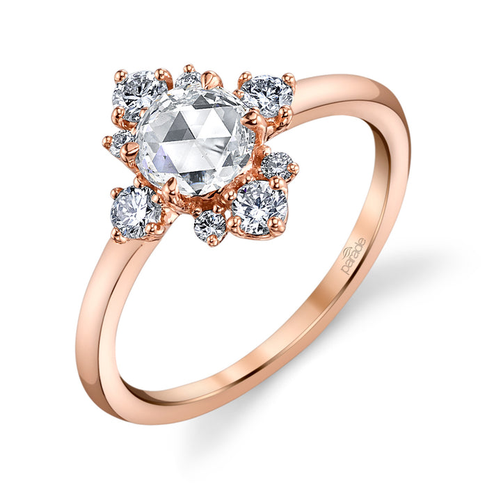 18K Rose Gold Peti Dia Lumi .52. 8-R-D=.33. GH-VS.