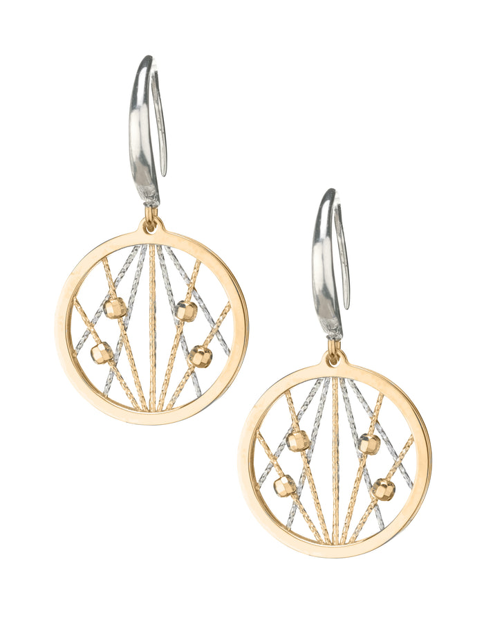SS YELLOW GOLD PLATED OPHILIA EARRINGS