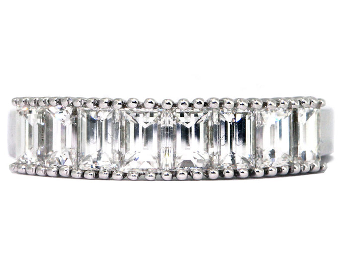 Plat EC's(Bag's) Wedd Band 8ec=1.62ct tw