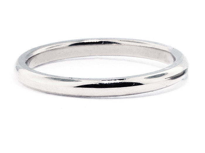 2.0 mm Platinum Non Comfort Fit Wedding Band
